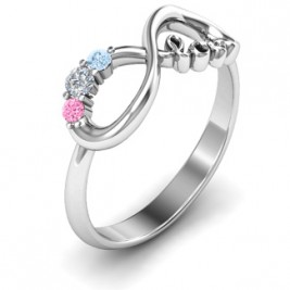 Customised Infinity Promise Ring With Birthstone Infinity Love Ring