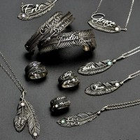 Luxury Feather Series - With Name Jewellery