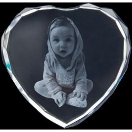Photo Engraved Crystals In Custom Made Shapes