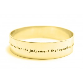 Personalised 15mm Wide Endless Bangle - 18ct Gold Plated