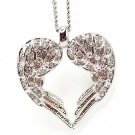 Personalised Angels Heart - Sterling Silver