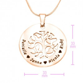Personalised BFS Family Tree Necklace - 18ct Rose Gold Plated