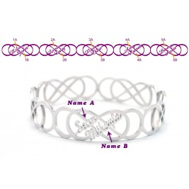 Personalised Endless Double Infinity Bangles