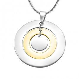 Personalised Circles of Love Necklace - TWO TONE - Gold  Silver