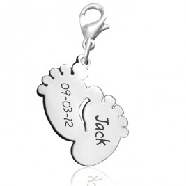 Personalised Feet Charm 12mm With Clasp