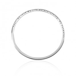 Personalised Classic Bangle - Sterling Silver