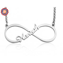 Personalised Single Infinity Name Necklace - Sterling Silver