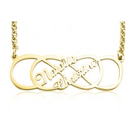 Personalised Infinity X Infinity Name Necklace - 18ct Gold Plated