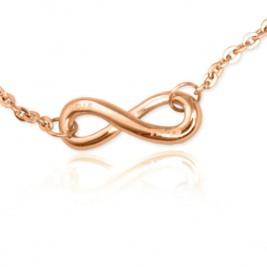 Personalised Neatie  Infinity Bracelet/Anklet - 18ct Rose Gold Plated