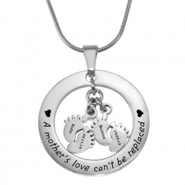 Personalised Cant Be Replaced Necklace - Double Feet 12mm