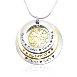 Personalised Family Triple Love - Two Tone - Gold n Silver