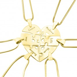 Personalised Hexa Heart Puzzle Necklace