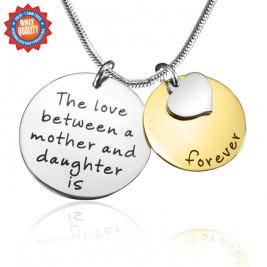 Personalised Mother Forever Necklace - Two Tone - Gold  Silver
