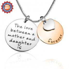 Personalised Mother Forever Necklace - Two Tone - Rose  Silver
