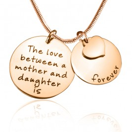 Personalised Mother Forever Necklace - 18ct Rose Gold Plated