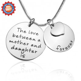 Personalised Mother Forever Necklace - Silver