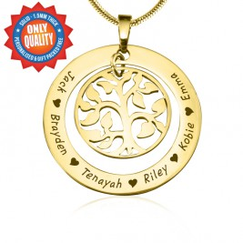 Personalised My Family Tree Necklace - 18ct Gold Plated