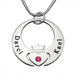 Personalised Queen of My Heart Necklace - Sterling Silver