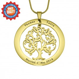 Personalised Tree of My Life Washer 8 - 18ct Gold Plated