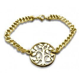 Personalised Tree Bracelet - 18ct Gold Plated