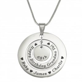Personalised Circles of Love Necklace - Silver