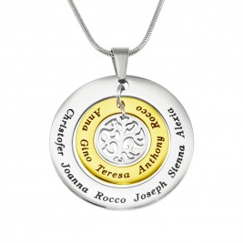 Personalised Circles of Love Necklace Tree - TWO TONE - Gold  Silver
