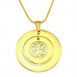 Personalised Circles of Love Necklace Tree - 18ct Gold Plated