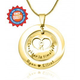 Personalised Infinity Dome Necklace - 18ct Gold Plated