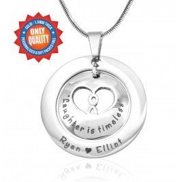Personalised Infinity Dome Necklace - Sterling Silver