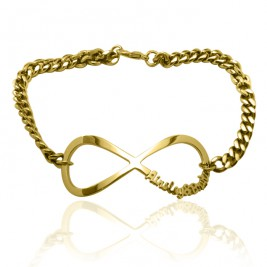 Personalised Infinity Name Bracelet/Anklet - 18ct Gold Plated
