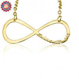 Personalised Classic Infinity Name Necklace - 18ct Gold Plated