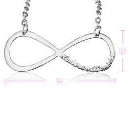 Personalised Classic Infinity Name Necklace - Sterling Silver