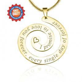 Personalised Promise Swirl - 18ct Gold Plated*Limited Edition
