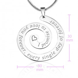 Personalised Promise Swirl - Sterling Silver *Limited Edition
