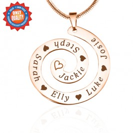 Personalised Swirls of Time Necklace - 18ct Rose Gold Plated