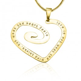 Personalised Love Heart Necklace - 18ct Gold Plated *Limited Edition