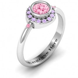 Blooming Round Cluster Ring