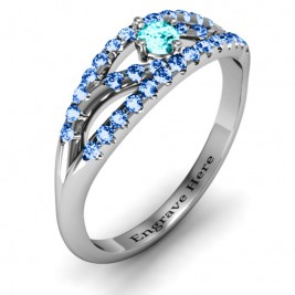Crown Accent Ring