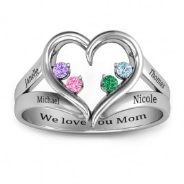 Forever In My Heart Birthstone Ring