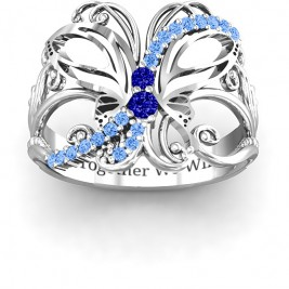 Glimmering Butterfly Ring