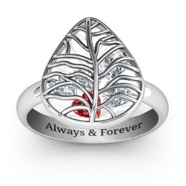 Lovely Lilac Cage Leaf Ring