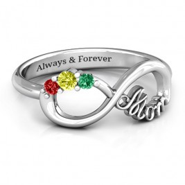 Mom's Infinite Love Ring with 2-10 Stones