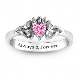 Trinity Knot Heart Crown Ring