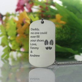 Father' Day Gift Dog Tag Name Necklace