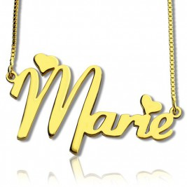 Personalised Nameplate Necklace for Girls 18ct Gold Plated