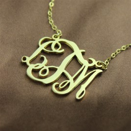 Cut Out Taylor Swift Monogram Necklace 18ct Gold Plated