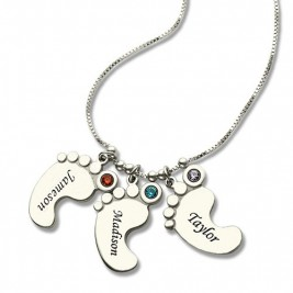 Baby Feet Charm Necklace for Mom