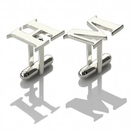 Best Designer Cufflinks with Initial Sterling Silver
