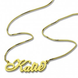 Personalised Necklace Nameplate Carrie in 18ct Gold Plated