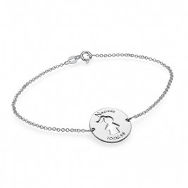 Cut Out Mum Bracelet/Anklet in Sterling Silver